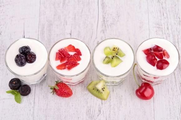 fruits and yogurt