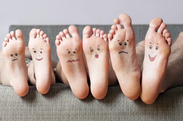 足裏の角質除去のコツ